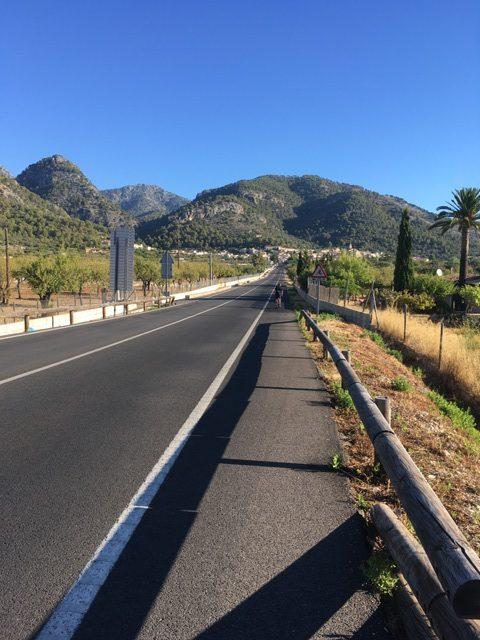 The view towards Caimari and the Sa Batalla climb beyond...