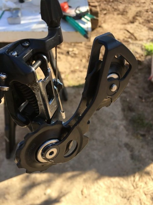 Clean rear derailleur