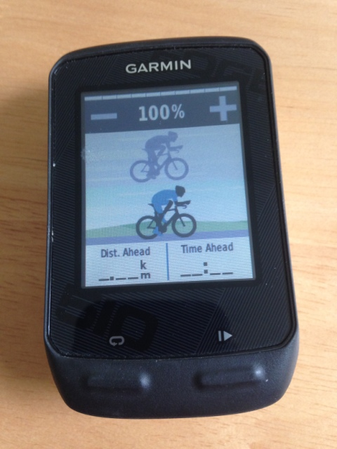 Edge 510 virtual partner screen