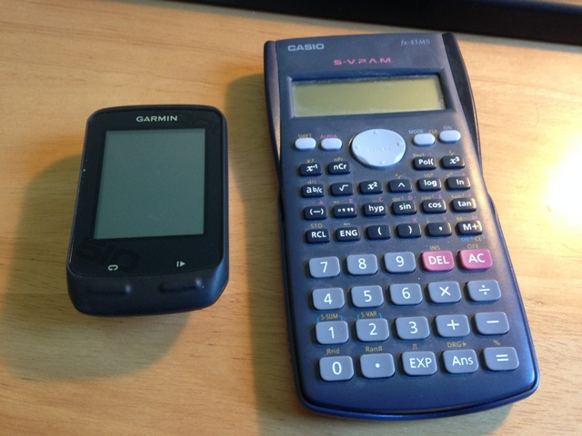 Edge 510 vs calculator