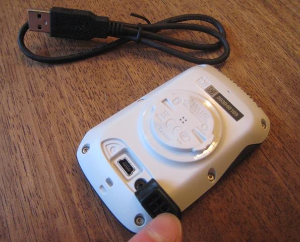 Garmin Edge 510 USB port and cable