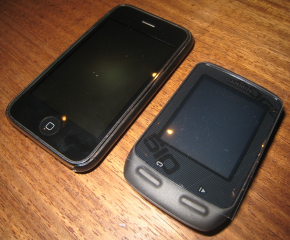 Garmin Edge 510 size comparison