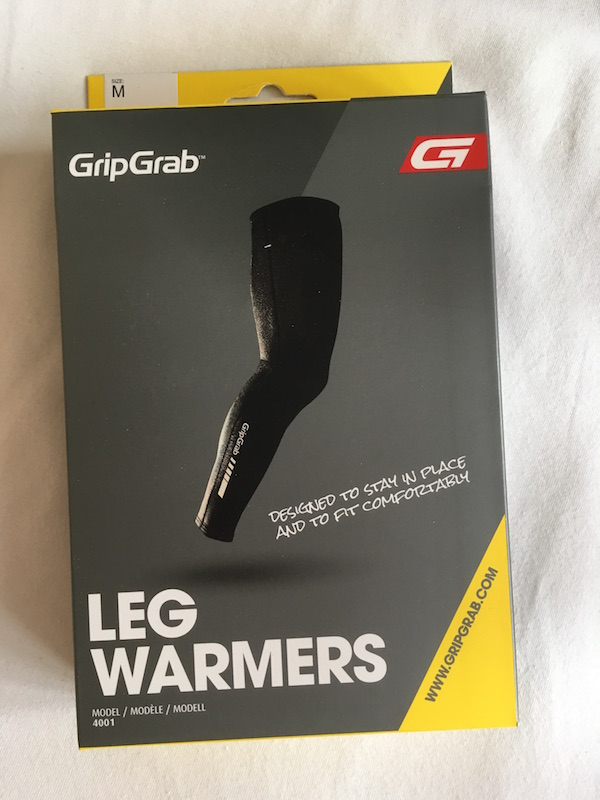 GripGrab leg warmers in box