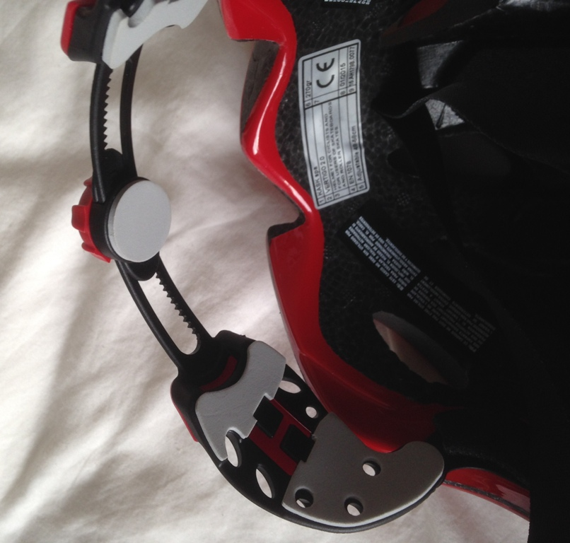 Kask helmet tightening mechanism