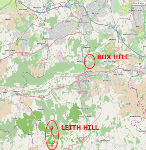 Leith Hill map large