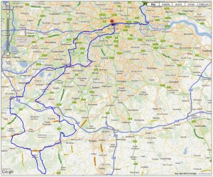 RideLondon-Surrey 100 route
