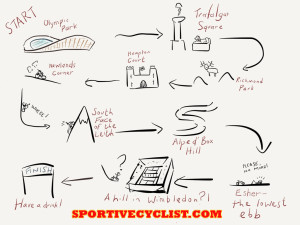 RideLondon Route Cartoon