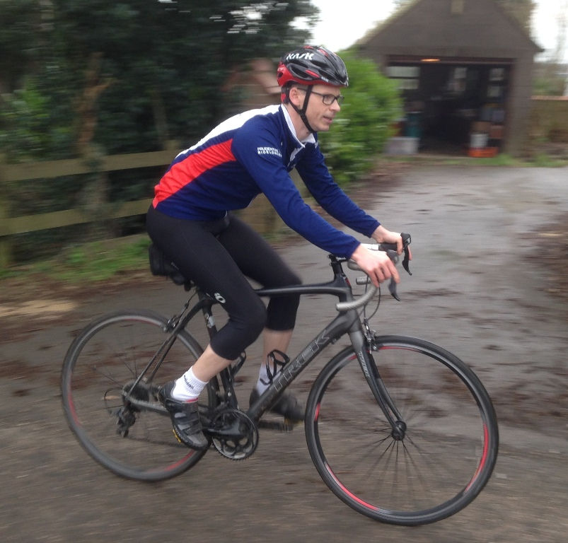 Riding a Trek Domane wearing my Kask Vertigo 2 helmet