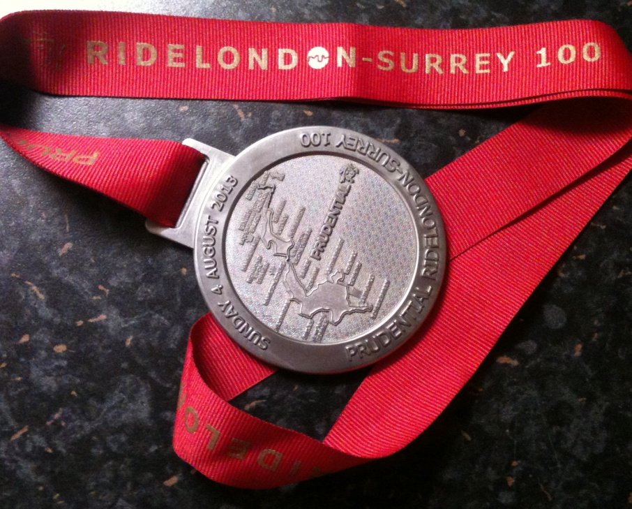 RideLondon finishers medal