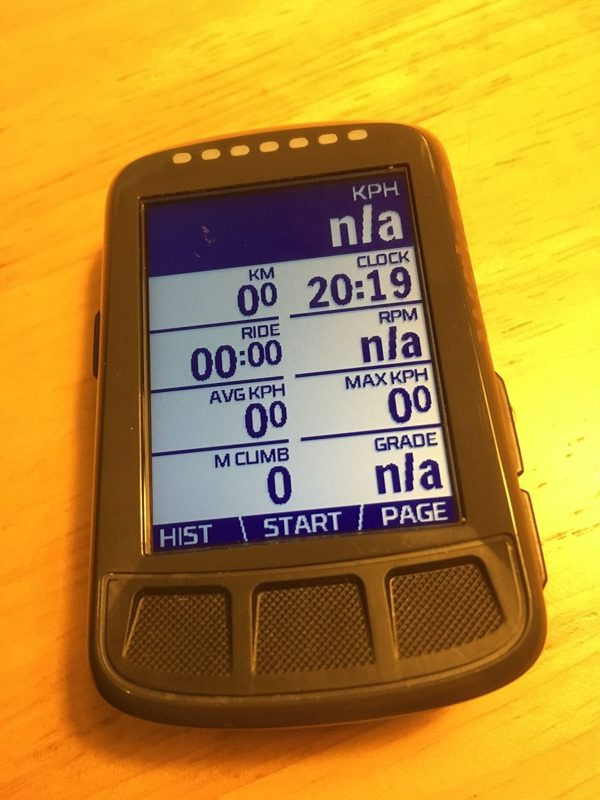 Wahoo ELEMNT BOLT 8 data